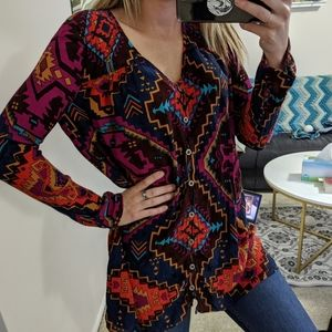 Billabong Aztec bohemian long sleeve tunic